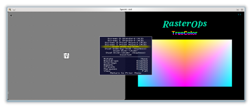 TightVNC connected to MAME: Macintosh IIx with a RasterOps Colorboard 264 as second video card
